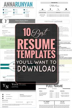 This is for you if you hate trying to get all your bullets lined up and want to throw your resume in the trash. http://www.classycareergirl.com/2016/02/resume-templates/
