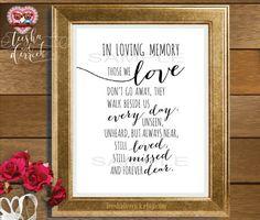 In Loving Memory Instant download Printable by TeeshaDerrick
