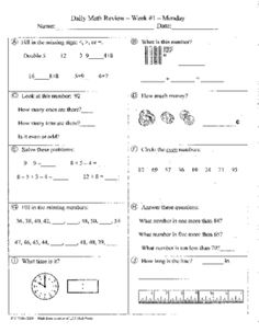 Free math reviews and quizes for 2nd Grade.