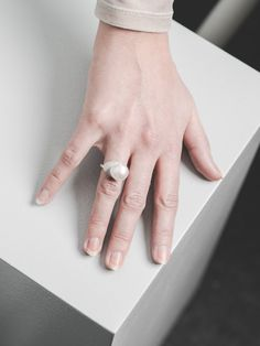 Pearl ring by Yuka Ito. Available at www.uumarket.fi - UU Market: Home of New Finnish Design.