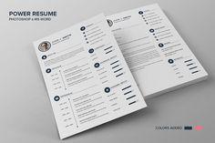 Power Resume CV - Smith by SNIPESCIENTIST on @creativemarket