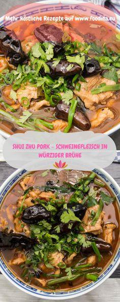 chinesische Küche at its Best! Zartes Schweinefleisch in würziger Brühe - perfekte Soulfood
