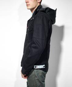 Levi's Commuter Hooded Trucker Jacket - Black - Slim Fit $128