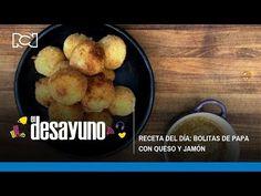 Bolitas crocantes de papa con queso y jamón | El Desayuno - YouTube Chefs, French Toast, Breakfast, Youtube, Food, Recipes, Morning Coffee, Essen, Meals
