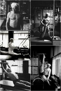 Practice Yoga and Lose Pounds - Joseph Pilates montage.He is the BOMB! I love pilates! Practice Yoga and Lose Pounds - Yoga Fitness. Introducing a breakthrough program that melts away flab and reshapes your body in as little as one hour a week! Pilates Poses, Le Pilates, Pilates Reformer, Pilates Workout, Exercise, Joseph Pilates, Studio Pilates, Cadillac, Pilates Benefits