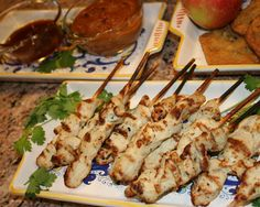 PB chicken skewers, back to school adult party snack