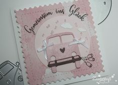 Hippie Bus in Rosa Stampin Up, Ali, Scrap, Pink, Paper, Cards, Red Apple, Paper Lanterns, Card Wedding