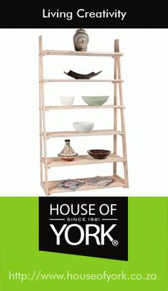 Made of solid wood for strength and durability, Racking is adjustable to personalize according to your needs. House Of York, Ladder Bookcase, Display Shelves, Decorative Items, Ladder Decor, Solid Wood, Wall Decor, Creativity, Frame