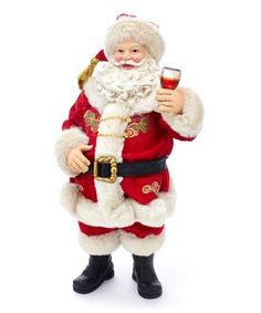Santa says Salud! and toasts your health in the Kurt Adler in. This Santa statue is made from lightweight PVC and. Christmas Tree Wreath, Christmas Decorations, Christmas Ornaments, Santa Figurines, Boy Halloween Costumes, Tech Gifts, Baby Sale, Red Fabric, All Things Christmas