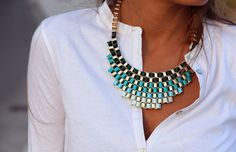 statement necklace, we have this at bou'tiki   in a pink yellow orange color scheme