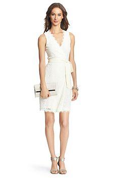 DVF Julianna Two Lace Wrap Dress