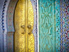 Royal Palace Door, Fes, Morocco by Doug Pearson. Photographic print from Art.com.
