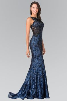 Formal dresses gowns - Long Flower Sequined Lace Dress by Elizabeth K – Formal dresses gowns Girls Formal Dresses, Gala Dresses, Pageant Dresses, Evening Dresses, Sequin Evening Gowns, Formal Gowns, Military Ball Dresses, Gowns Of Elegance, Elegant Gowns
