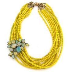 Like the chunky necklace with the broach.  Any color.