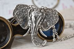 Spoon Necklace Elephant by Silver Spoon Jewelry by silverspoonj