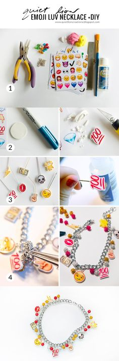 Quiet Lion Creations by Allison Beth Cooling: emoji luv necklace +diy