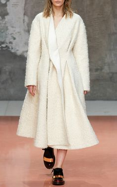Bonded Plush Alpaca Wool Dress Coat by Marni for Preorder on Moda Operandi