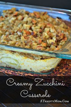 this looks so good! Creamy Zucchini Casserole, great way to use up the zucchini from your garden.  The whole family loved it
