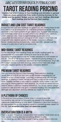 Tarot Reading Pricing.