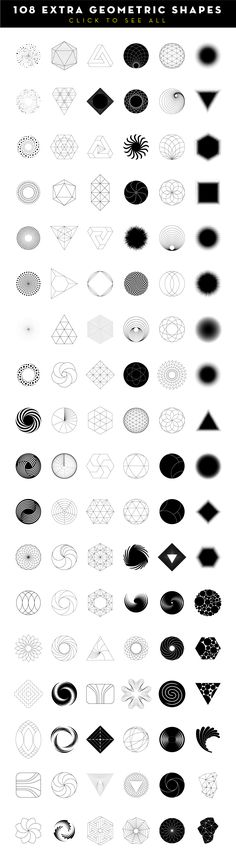 MASSIVE GEOMETRY BUNDLE more than 250 geometric symbols and icons: 60 sacred geometry items, 24 triangles, 30 dashed hexagons, 18 spinning objects, 12 basic Geometric Symbols, Geometric Logo, Geometric Designs, Geometric Mandala, Geometric Shape Tattoo, Lotus Mandala, Geometric Drawing, Mandala Tattoo, Trendy Tattoos
