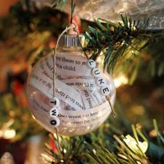 Bible Verse Ornament - cute and simple gift for neighbors