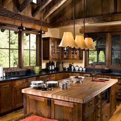 rustic mountain spice racks | Rustic Kitchen Design Ideas, Pictures, Remodel and Decor