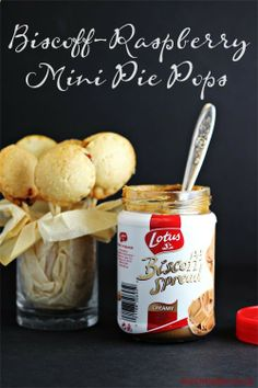 Biscoff-Raspberry Mini Pie Pops Recipe #BiscoffSpreadsLove