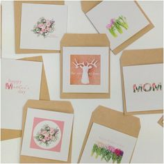 Lovely Mother's Day greeting cards made by Heather Page. http://instagram.com/heather_page   Find these on http://printstud.io/, http://printstagr.am/, http://getblue.co/ & our Print Studio app!
