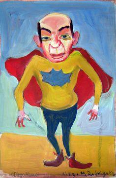 """""""Batipirulo"""", gouache sobre papel, 24x 18 cm., year 1998"""