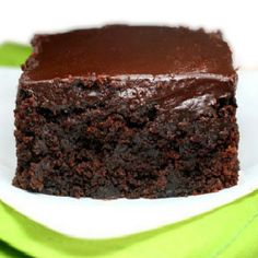 **Tried & True** Chocolate Zucchini Cake. I replaced 1/2 of the oil with applesauce, and used sour cream. I did not add the espresso powder. I made my Hershey frosting for the top.