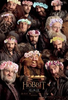 """The Sassy Dearves"" the description says. My only thought is that this picture represents the Dwarves using flower power, even though no one in the movie follows that rule. Haha!"