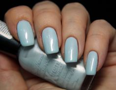 Sally Hansen- Breezy Blue This is so cute go to www.nail-tutorials.com to find more tips and tutorials for nails!