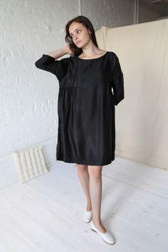 Gallego Desportes Gathered Waist Dress Black