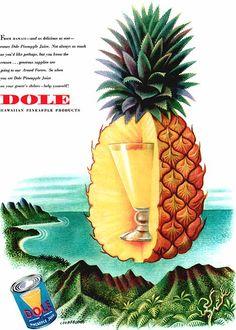 Vintage Dole Pineapple Juice ad