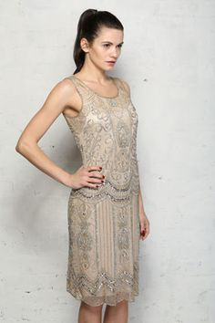 Surprise your other half with our Silver Flapper Dress this Christmas. £148 http://www.rockmyvintage.co.uk/beaded-silver-flapper-dress.htm