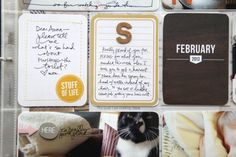 Project Life Idea: When doing a family album and you want to highlight a journal card for a specific kid, add a monogram to signify which kids it is about.