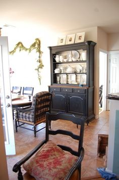 Im So Debating Painting Our Hutch In The Dining Room Black I LOVE