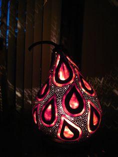 Gourd Lamp handcrafted dancing kokopelli gourd table lamptamiredding