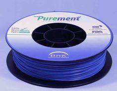 Antibacterial 3D printing filament, Purement, in Blue www.cleanstrands.com