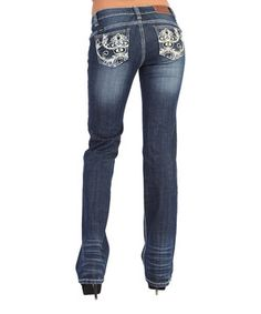 Another great find on #zulily! Adiktd Dark Wash New Orleans Night Lowrise Bootcut Jeans by Adiktd #zulilyfinds