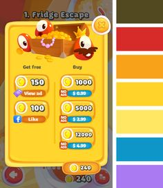 Pudding Monsters - iOS Game - Android Game - UI - Game Interface - Game HUD…