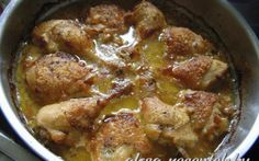 Mustáros hagymás csirke 45 perc alatt recept fotóval Hungarian Cuisine, Hungarian Recipes, Hungarian Food, Pork Recipes, Chicken Recipes, Healthy Recipes, Chicken Rice, Love Food, Food Porn