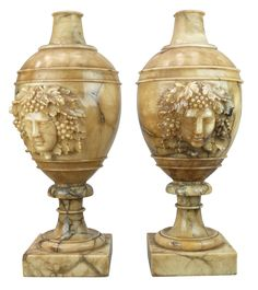 Decorative Urns Vases Pair Of Nineteenth Century Mantel Urns  Decorative Collective