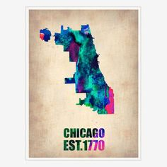 Chicago Print, $35, now featured on Fab.
