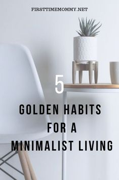 How to be a minimalist for beginners. 5 golden habits for a minimal living. Read more to learn tips and benefits of how to be a minimalist and live minimally. Minimalist Living Tips, Minimal Living, Minimalist Lifestyle, Minimalist Decor, How To Be Minimalist, Declutter Your Home, Organizing Your Home, Slow Living, Clean Living