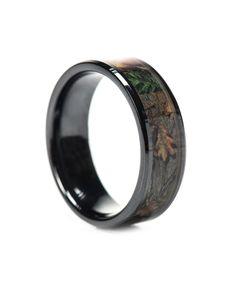#1 Camo Camo Wedding Ring - Black Ceramic