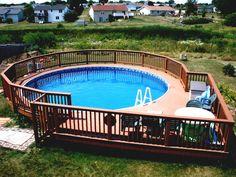 Kleine Deck Für Oben Genannte Boden Pool Ideen #Gartendeko