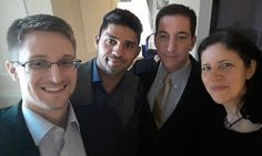 Second leaker in US intelligence, says Glenn Greenwald. Citizenfour, new film on spying whistleblower Edward Snowden, shows journalist Greenwald discussing other source | Edward Snowden, left, with Greenwald, second from right,  David Miranda and Laura Poitras.