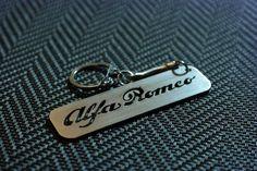 Alfa Romeo Keychain Alfa Romeo Key Chain Cuore Sportivo Key Ring Stainless Steel Key Tag Lasercut Key Fob Stelvio Keychain GT Keyring by Key Tags, Steel Sheet, Spring Steel, Alfa Romeo, Key Chain, Laser Cutting, Handmade Items, Stainless Steel, Personalized Items