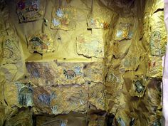 Art Lesson: Oil Pastel Cave Painting_aweome SITE LOTS OF LESSONS